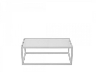 Konferenční stolek Modai LAWA 103 x 53 cm, sklo - bílá č.7