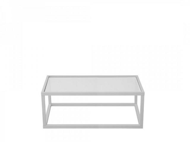 Konferenční stolek Modai LAWA 103 x 53 cm, sklo - bílá č.2