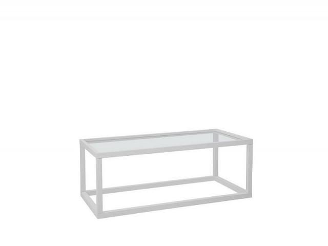 Konferenční stolek Modai LAWA 103 x 53 cm, sklo - bílá č.1