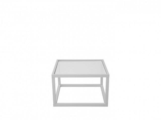 Konferenční stolek Modai LAWA 63 x 63 cm, sklo - bílá č.2