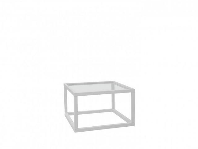 Konferenční stolek Modai LAWA 63 x 63 cm, sklo - bílá č.1
