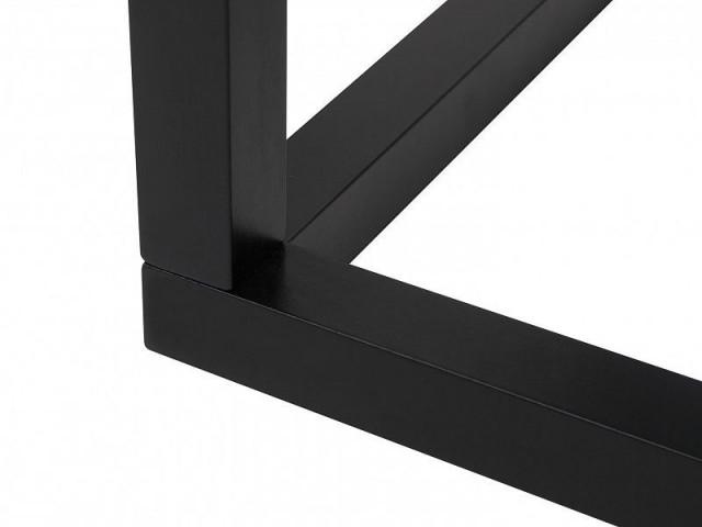 Konferenční stolek Modai LAWA 63 x 63 cm, sklo - černá č.3