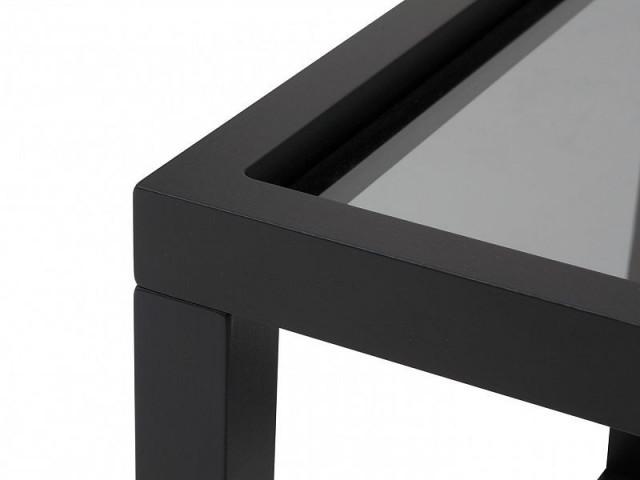 Konferenční stolek Modai LAWA 63 x 63 cm, sklo - černá č.4