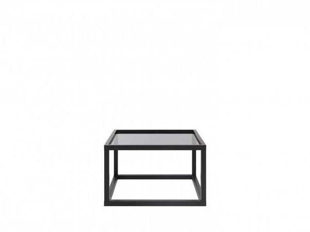 Konferenční stolek Modai LAWA 63 x 63 cm, sklo - černá č.1
