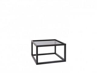 Konferenční stolek Modai LAWA 63 x 63 cm, sklo - černá č.7