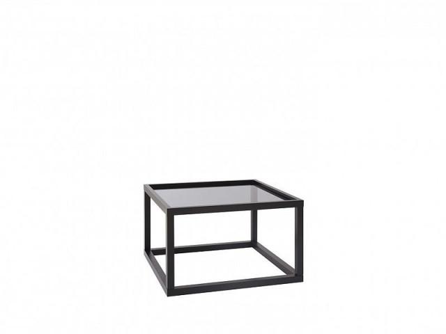 Konferenční stolek Modai LAWA 63 x 63 cm, sklo - černá č.2