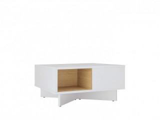 Konferenční stolek Modai LAW/3/6 - bílá Canadian/dub polský č.6