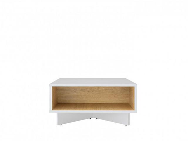 Konferenční stolek Modai LAW/3/6 - bílá Canadian/dub polský č.1