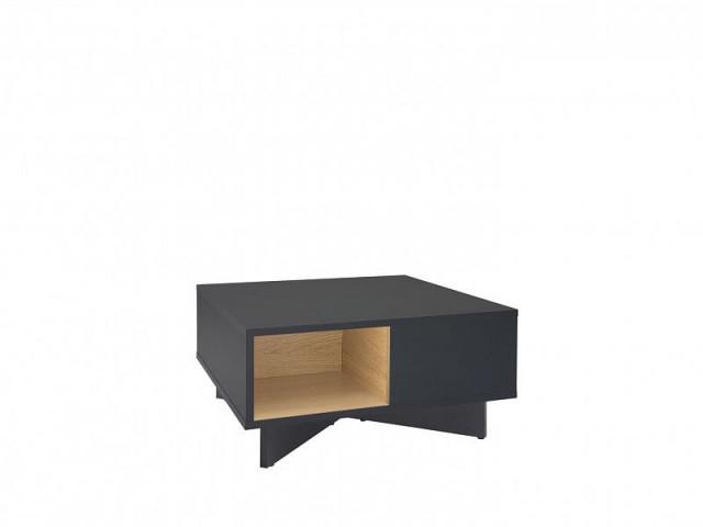 Konferenční stolek Modai LAW/3/6 - černá antracit/dub polský č.2