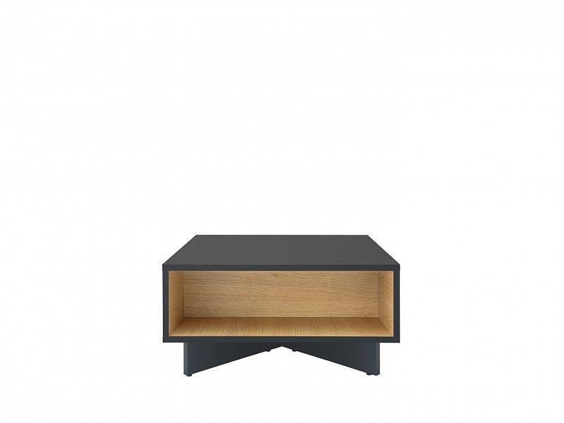Konferenční stolek Modai LAW/3/6 - černá antracit/dub polský