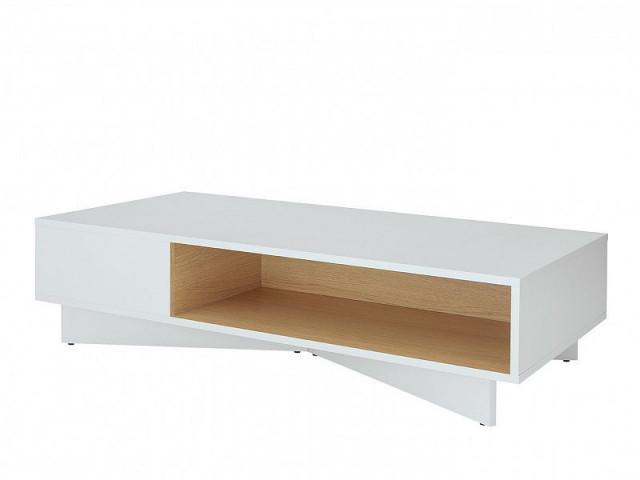 Konferenční stolek Modai LAW/3/12 - bílá Canadian/dub polský č.2