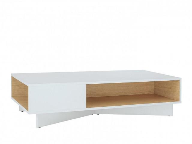 Konferenční stolek Modai LAW/3/12 - bílá Canadian/dub polský č.3
