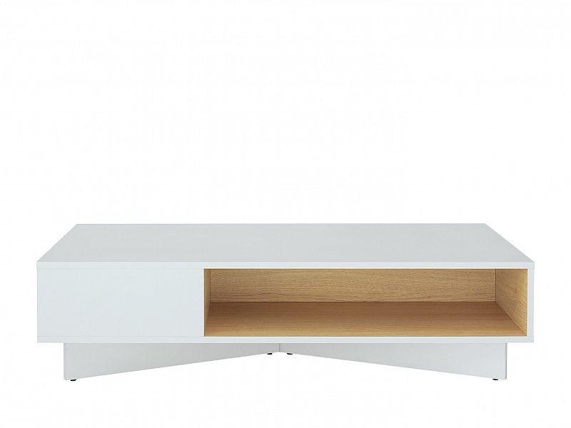BRW Konferenční stolek Modai LAW/3/12 - bílá Canadian/dub polský