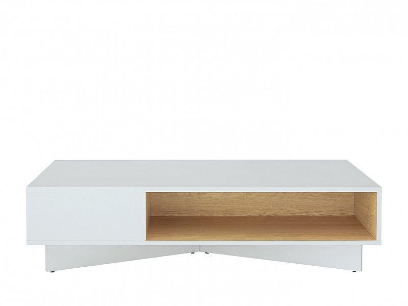 Konferenční stolek Modai LAW/3/12 - bílá Canadian/dub polský