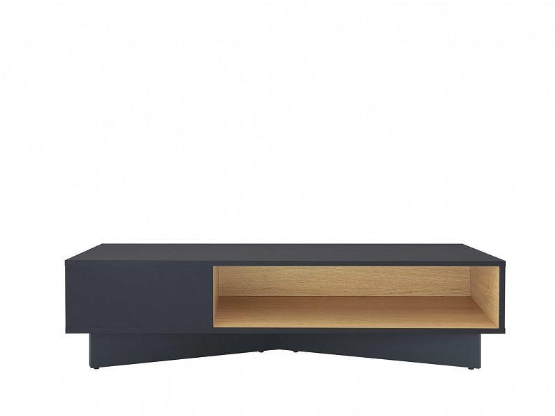 Konferenční stolek Modai LAW/3/12 - černá antracit/dub polský