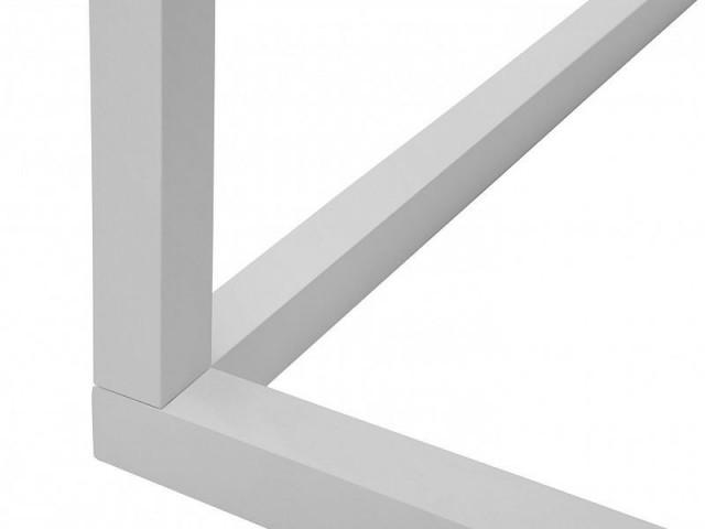 Konferenční stolek Modai LAWA 83 x 83 cm, sklo - bílá č.3