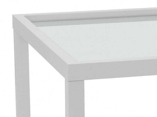 Konferenční stolek Modai LAWA 83 x 83 cm, sklo - bílá č.4