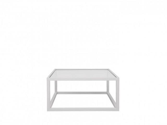 Konferenční stolek Modai LAWA 83 x 83 cm, sklo - bílá č.1