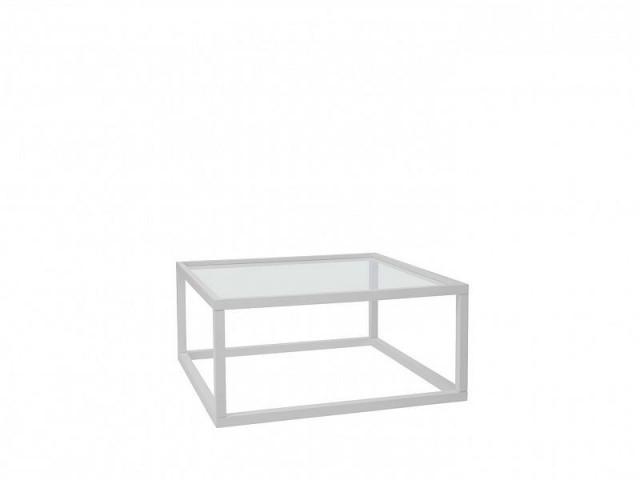 Konferenční stolek Modai LAWA 83 x 83 cm, sklo - bílá č.2