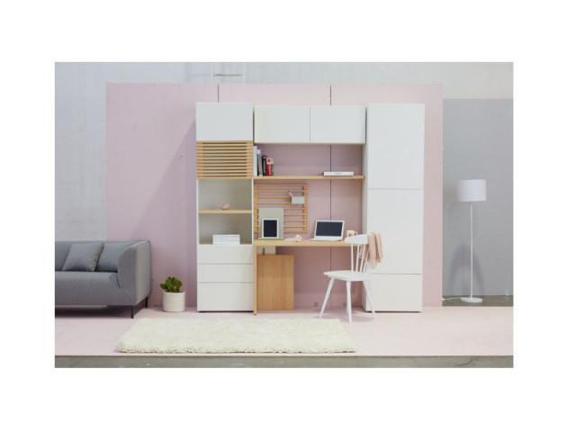 Konferenční stolek Modai LAWA 83 x 83 cm, sklo - bílá č.5