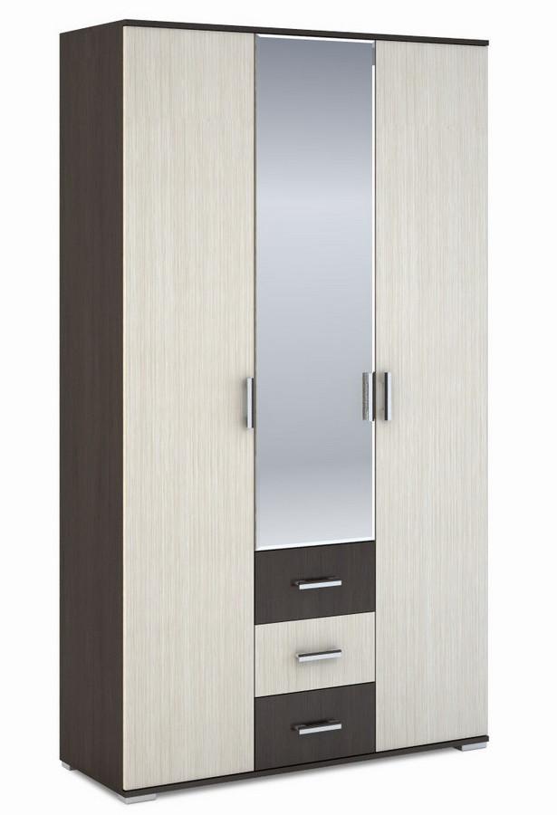 Casarredo Šatní skříň 3-dveřová ROCHEL 45 cm belfort/wenge