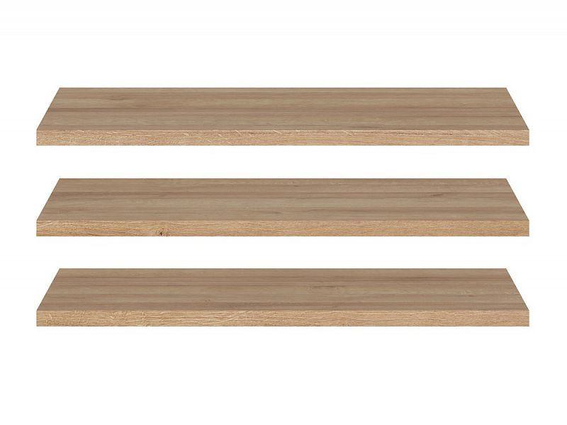Police k šatní skříni Lurs SZF3D - dub riviéra (3 kusy v balení)