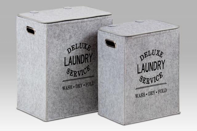 Koš na špinavé prádlo z plsti KD02 - sada 2 kusů