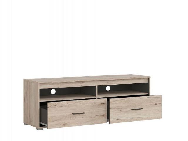 Televizní stolek Ronse RTV2S - dub san remo světlý/šedý wolfram č.3