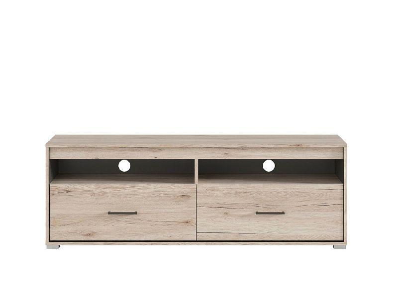 Televizní stolek Ronse RTV2S - dub san remo světlý/šedý wolfram