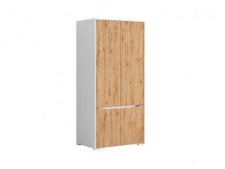 Šatní skříň Haren SZF4D - bílá alpská/dub minerva č.4