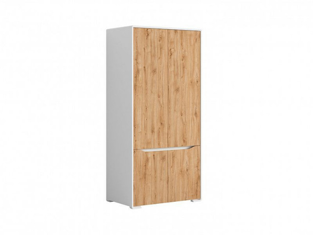 Šatní skříň Haren SZF4D - bílá alpská/dub minerva č.3
