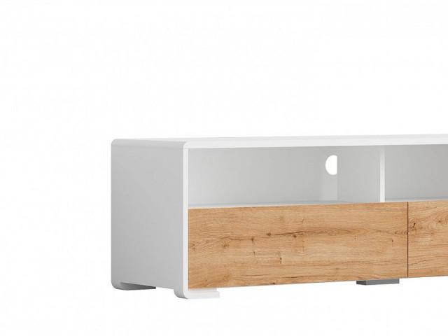 Televizní stolek Haren RTV2S - bílá alpská/dub minerva č.2