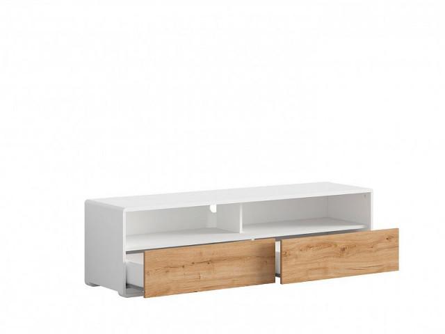 Televizní stolek Haren RTV2S - bílá alpská/dub minerva č.3