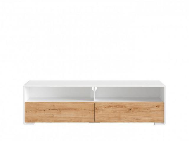 Televizní stolek Haren RTV2S - bílá alpská/dub minerva č.1