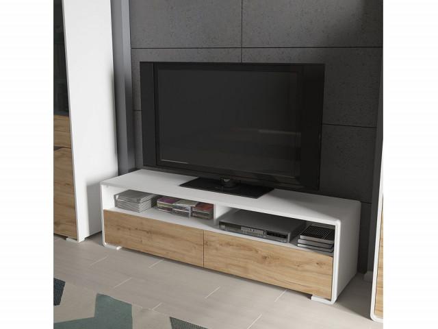 Televizní stolek Haren RTV2S - bílá alpská/dub minerva č.4