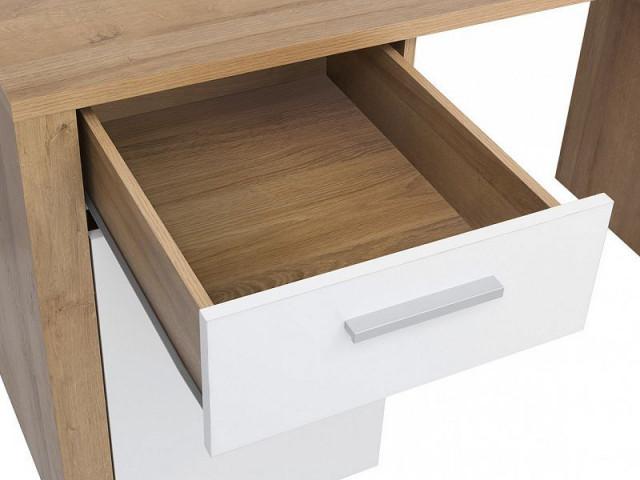 Psací stůl Balder BIU 120 - Dub riviéra/bílý lesk č.3