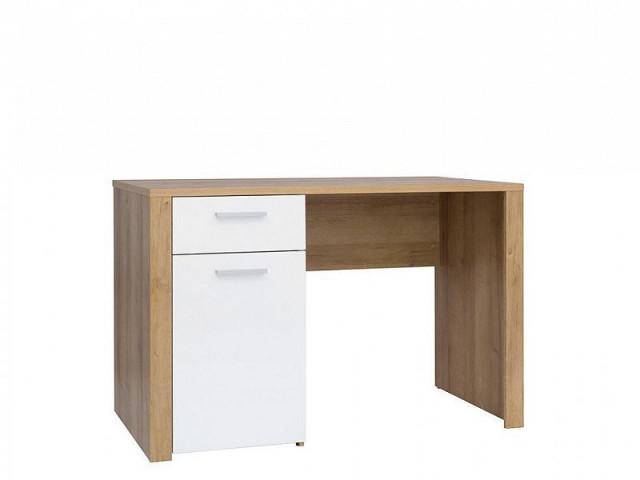 Psací stůl Balder BIU 120 - Dub riviéra/bílý lesk č.6