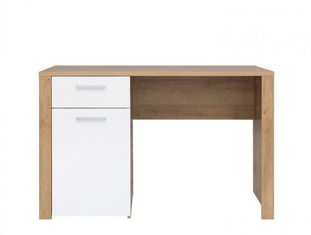 Psací stůl Balder BIU 120 - Dub riviéra/bílý lesk č.1
