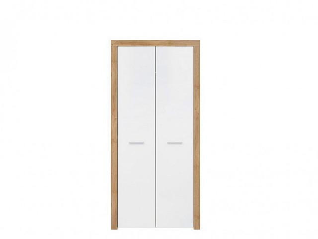 Šatní skříň Balder SZF2D - Dub riviéra/bílý lesk č.1
