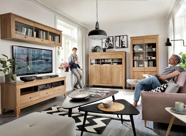 Televizní stolek Bergen RTV3S - Modřín sibiu zlatý č.7