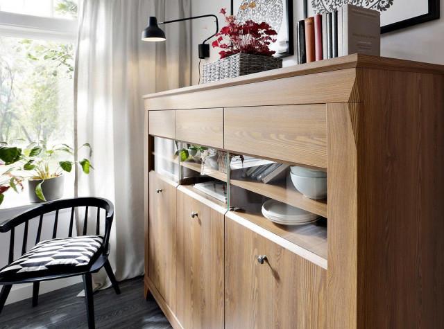 Televizní stolek Bergen RTV3S - Modřín sibiu zlatý č.6