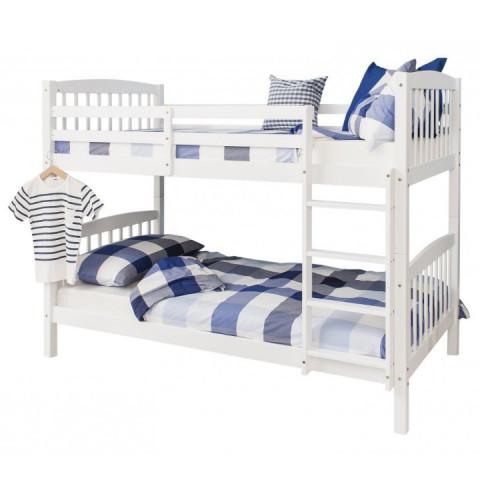 Patrová rozložitelná postel RAVELO - bílá