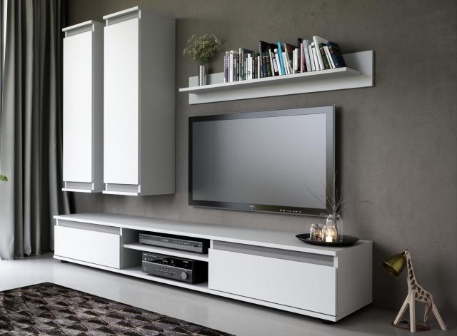 Obývací stěna CHECO bílá
