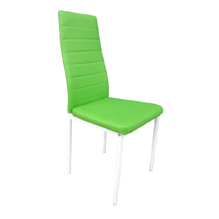 Tempo Kondela Židle COLETA NOVA - zelená ekokůže / bílý kov + kupón KONDELA10 na okamžitou slevu 3% (kupón uplatníte v košíku)