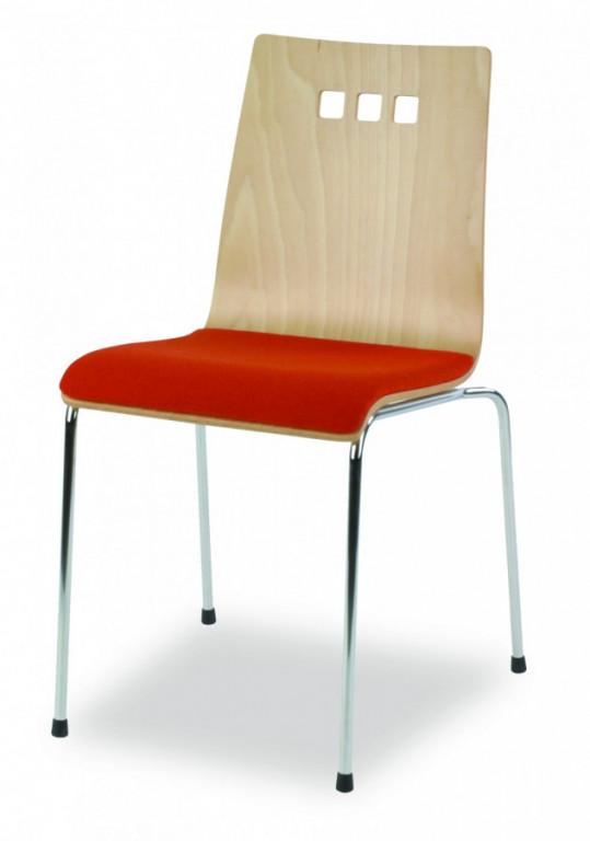 Židle Mirka podnož chrom čalouněný sedák