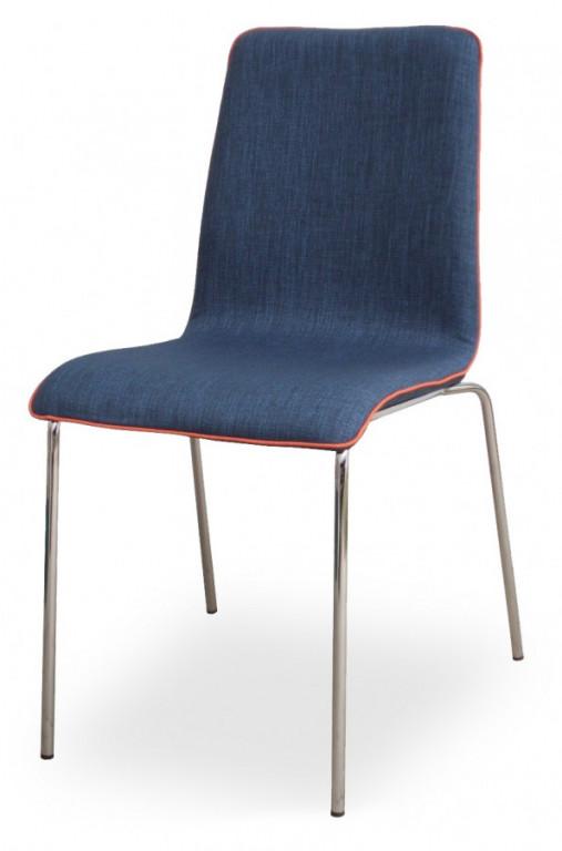 Židle Mirka podnož chrom celočalouněná