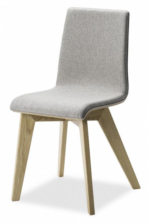 Jídelní židle Mirka podnož buk - čalouněný sedák