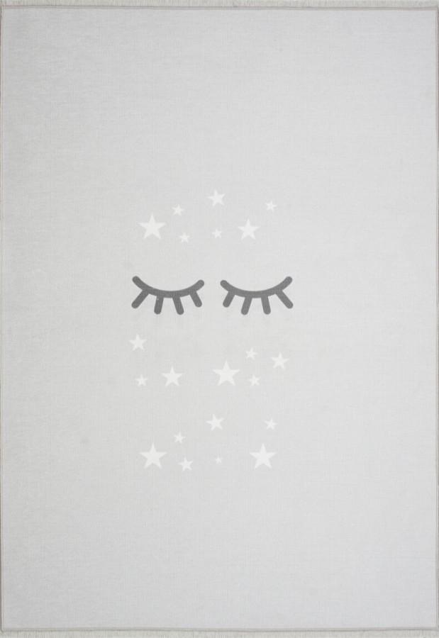 Forclaire Dětský koberec spící očička šedý 100x160 cm