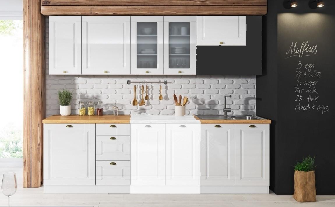 Casarredo Kuchyně ATTILA 240 bílá lesk