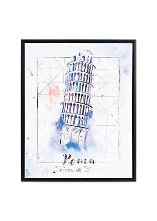 Autronic Obraz šikmá věž v Pise OBX1022